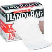 Handi-Bag® Super Value Pack Trash Bag 13 Gallon 0.60 Mil, White 100 Bags/Box - WBIHAB6FK100