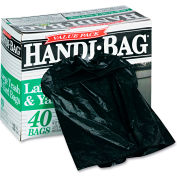 Handi-Bag® Super Value Pack Trash Bag 33 Gallon 0.70 Mil, Black 40 Bags/Box - WBIHAB6FTL40