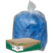 Earthsense® Commercial Recycled Can Liners 31-33 Gallon 1.25 Mil, Clear 100 Bag/Box-WBIRNW4015C