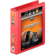 """Wilson Jones® Heavy Duty Round Ring View Binder with Extra Durable Hinge, 1.5"""" Capacity, Red"""