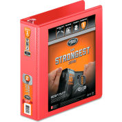 """Wilson Jones® Heavy Duty Round Ring View Binder with Extra Durable Hinge, 2"""" Capacity, Red"""