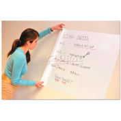 "Wizard Wall® Self-Adhesive Marker Board, Slide Cutter w/ClingZ Film Roll, 27-1/2"" x 25', White"