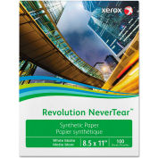 "Xerox™ Revolution NeverTear Paper, White, 8 mil, 8-1/2"" x 11"", 500 Sheets/Ream"