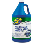 Zep® Commercial Mold, Stain & Mildew Stain Remover, Gallon Bottle 1/Case - ZPEZUMILDEW128