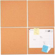 "Universal® Bulletin Board Tile Panels - Natural Cork - 12"" x 12"" - Pack of 4"