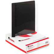 """Universal Paper Report Cover, 8-1/2"""" x 11"""", 1/2"""" Capacity, Clear/Black, 25/Box"""