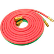"""12.5' Oxyacetylene Twin Hose - 3/8"""" (A) And 9/16"""" (B) Connections - Pkg Qty 2"""