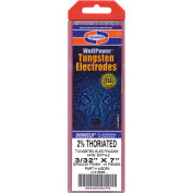 "Wolfpower® 2% Thoriated Tungsten Electrode - 3/32"" x 7"" - Pkg of 10"