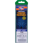"Wolfpower® Pure Tungsten Electrode - 3/32"" x 7"" - Pkg of 10"