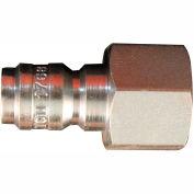 """Milton 1764 Straight Through Air Plug 1/4"""" FNPT 50 Pack"""