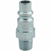 "Milton 1839 H Style Industrial Plug 1/4"" MNPT 100 Pack"