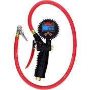"Milton Pro Digital Pistol Grip Inflator Gauge & Ball Chuck W/ Clip. 255 PSI, 36"" Hose - 573D"