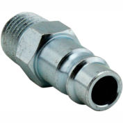 "Milton 760-1 V Style High Flow Steel Plug 1/4"" MNPT 10 Pack"