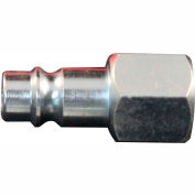 "Milton 761-1 V Style High Flow Steel Plug 1/4"" FNPT 10 Pack"
