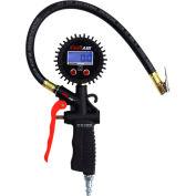 "EXELAIR Pistol Grip Digital Tire Inflator Gauge, 0 to 100 PSI, 15"" Hose - EX0500D"