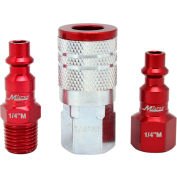Milton S-303MKIT, ColorFit Red Coupler and Plug Kit, Industrial M Style, 3 Pieces