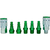 Milton S-307AKIT, ColorFit Green Coupler and Plug Kit, ARO A Style, 7 Pieces