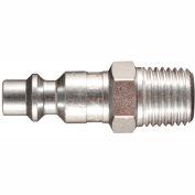 "Milton s-727 M Style Industrial Plug 1/4"" MNPT 2 Pack"