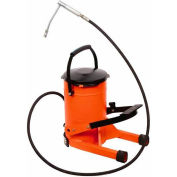 Groz 44255 High Pressure Foot Operated Grease Pump, 22 Pound (10kg) Bucket Capacity