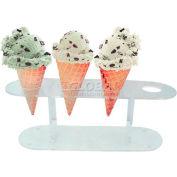 "Update International Ice Cream Cone Stand Acrylic, 13""L x 4""W x 4-1/2""H, ACS-4 - Pkg Qty 12"
