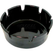 "Update International Ash Tray Round, 4""Dia. x 1-3/4"" Deep, Plastic, Black, AST-4BK - Pkg Qty 72"