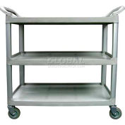 Update International Bus Cart, 3 Tier, Grey, BC-3520GZ