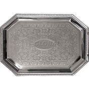 "Update International Serving Tray, 17-1/8""L x 11-4/5""W x 1-1/2""H, Chrome Plated, CT-1712C - Pkg Qty 36"