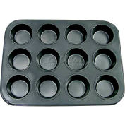 Update International Non-Stick Carbon Muffin Pan, 12 Cup Cap., MPNS-12 - Pkg Qty 24