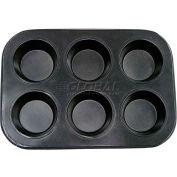 "Update International Non-Stick Carbon Muffin Pan, 6 Cup Cap., 10-1/2""L x 7-1/2""W, MPNS-6 - Pkg Qty 36"