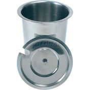 """Update International Solid Cutlery Cylinder, 30 Oz., 4-1/2""""Dia. x 5-1/4""""H, Stainless Steel, SC-30S - Pkg Qty 80"""