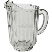 """Update International Water Pitcher, 60 Oz., 5""""Dia. x 8-1/8""""H, S.A.N. Material, WP-60SC Package Count 12"""