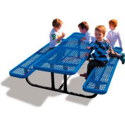 6' Rectangular Child's Picnic Table, Expanded Metal, Blue