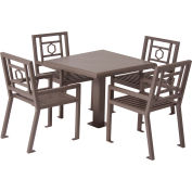 """UltraPlay 36"""" Square Huntington Table w/ 4 Chairs, Spartan Bronze"""