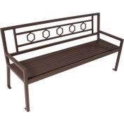 "UltraPlay 48"" Huntington Bench w/ Back, Spartan Bronze"