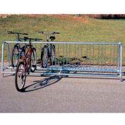 Portable Traditional Bike Rack, 20-Bike Capacity, Double Sided, 10' Long