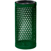 UltraPlay Metal Thermoplastic Coated Ash Urn, Diamond Patterned, Brown - EX-12-BRN