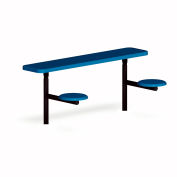 UltraPlay 6-ft. Solid Top Inground Mount Outdoor Classroom Desk, Blue