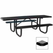 "8' Double Sided Extra Heavy Duty ADA Table, Diamond 96""W x 70""D - Black"
