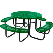 """46"""" Round Table, Perforated, Green"""
