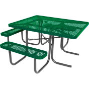 "46"" ADA Square Table, Perforated, Green"