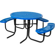 "46"" ADA Round Table, Perforated, Blue"