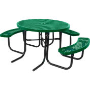 "46"" ADA Round Table, Perforated, Green"