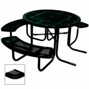 "3-Seat, 46"" ADA Round Table, Perforated 80""W x 63""D - Black"