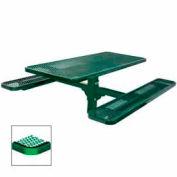 "6' Single Pedestal Table, Inground, Diamond 72""W x 70""D - Green"