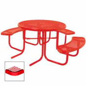 "3-Seat, 46"" ADA Round Table, Diamond 80""W x 63""D - Red"