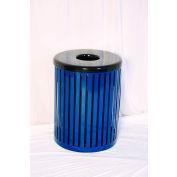 UltraPlay 55 Gallon Slat Trash Receptacle, Blue - S-55-BLU