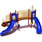 UPlay Today™ Hamilton Ridge Commercial Playground Playset, Playful (Red, Yellow, Blue)