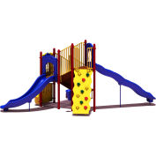 UPlay Today™ Timber Glen Commercial Playground Playset, Playful (Red, Yellow, Blue)