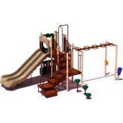 UPlay Today™ Maddie's Chase Commercial Playground Playset, Natural (Green, Tan, Brown)