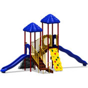 UPlay Today™ Bighorn Commercial Playground Playset, Playful (Red, Yellow, Blue)